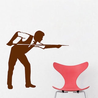 Decor Villa Wall Sticker (Playing Snooker ,Surface Covering Area 19 x 17 Inch)