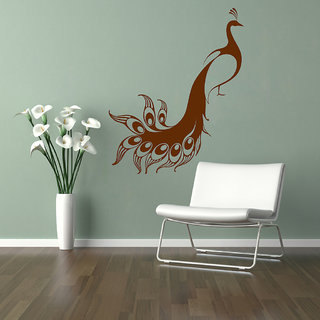 Decor Villa Wall Sticker (Beautiful Peacock Wall ,Surface Covering Area 23  X 30 Inch