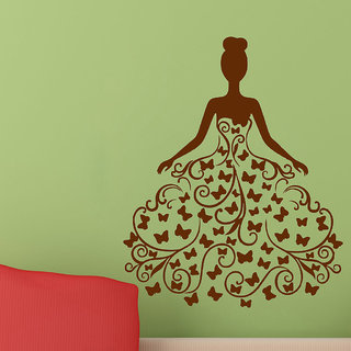 Decor Villa Wall Sticker (Butterfly Girl ,Surface Covering Area 23 x 28 Inch)