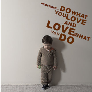 Decor Villa Wall Sticker ( Do What U Love ,Surface Covering Area 40 x 23 Inch)