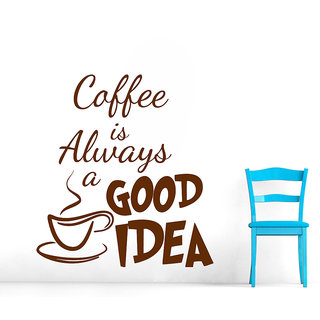 Decor Villa Wall Sticker (Coffee Is Always ,Surface Covering Area 23 x 25 Inch)