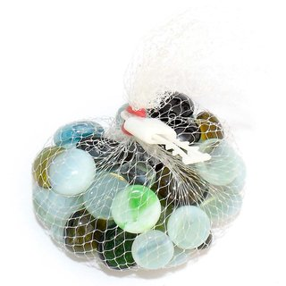 Flat Glass Pebbles or Nuggets for Home  Garden Decoration