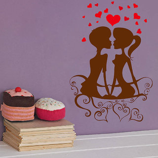 Decor Villa Wall Sticker (Kissing Couple ,Surface Covering Area 23 x 34 Inch)