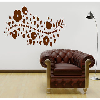 Decor Villa Wall Sticker (Fly Heart Flower ,Surface Covering Area 54 x 23 Inch)