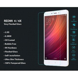 Redmi 4 Flexible Premium Quality 2.5D Tempered Glass