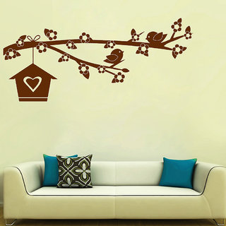 Decor Villa Wall Sticker (Bird home ,Surface Covering Area 54 x 23 Inch)