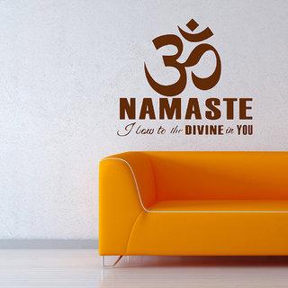 Decor Villa Wall Sticker (Namaste ,Surface Covering Area 26 x 23 Inch)