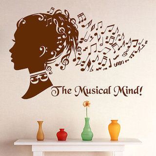 Decor Villa Wall Sticker (The musical mind ,Surface Covering Area 23 x 17 Inch)