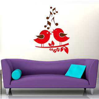 Decor Villa Wall Sticker ( Singing Bird ,Surface Covering Area 20 x 26 Inch)