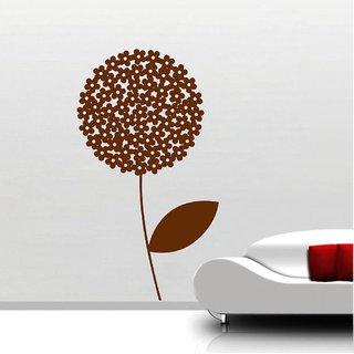 Decor Villa Wall Sticker (Flower Design ,Surface Covering Area 17 x 17 Inch)