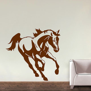 Decor Villa Wall Sticker (Running Horse ,Surface Covering Area 17 x 17 Inch)
