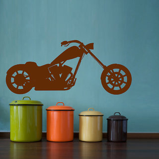 Decor Villa Wall Sticker (Chopper ,Surface Covering Area 53 x 23 Inch)
