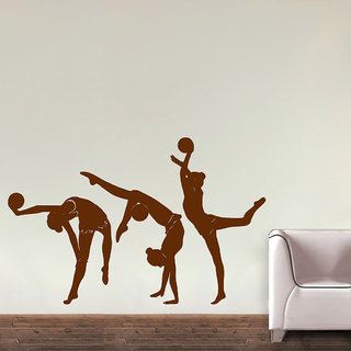 Decor Villa Wall Sticker (Rhythmic Gymnastic ,Surface Covering Area 37 x 23 Inch)