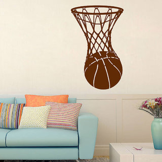 Decor Villa Wall Sticker (Basketball ,Surface Covering Area 23 x 38 Inch)