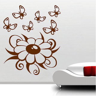 Decor Villa Wall Sticker (Butterfly Gang ,Surface Covering Area 23 x 31 Inch)
