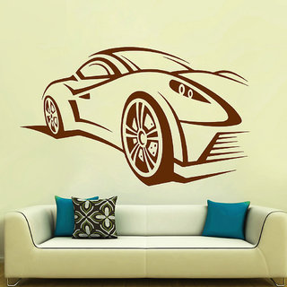 Decor Villa Wall Sticker (Racecar ,Surface Covering Area 40 x 23 Inch)