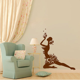 Decor Villa Wall Sticker (Bubble Girl ,Surface Covering Area 17 x 70 Inch)