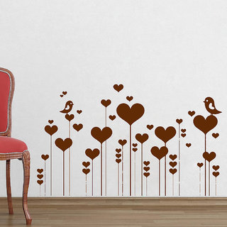 Decor Villa Wall Sticker (Birds sweet couple ,Surface Covering Area 40 x 23 Inch)
