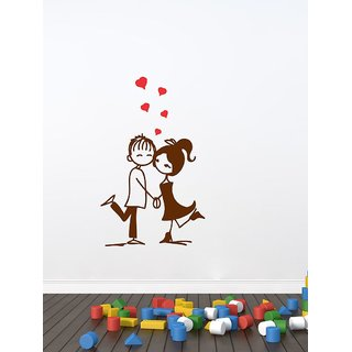 Decor Villa Wall Sticker (Love couple ,Surface Covering Area 17 x 28 Inch)