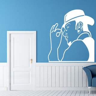 Decor Villa Wall Sticker (Yo Yo Honey Singh ,Surface Covering Area 23 x 26 Inch)