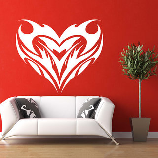 Decor Villa Wall Sticker (Lovely Heart ,Surface Covering Area 27 x 23 Inch)