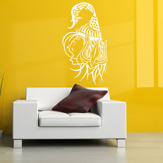 Decor Villa Wall Sticker (Angry Shiva ,Surface Covering Area 14 x 26 Inch)