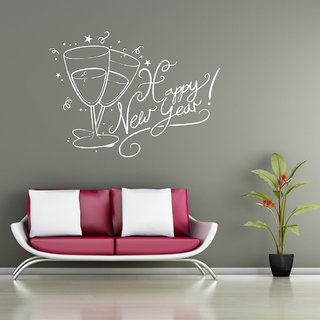 Decor Villa Wall Sticker (Happy New Year ,Surface Covering Area 32 x 23 Inch)