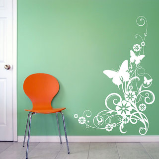 Decor Villa Wall Sticker (Butterfly ,Surface Covering Area 20 x 25 Inch)