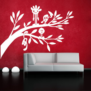 Decor Villa Wall Sticker (Cartoon On Tree ,Surface Covering Area 23 x 17 Inch)