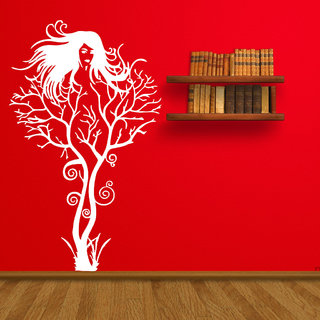 Decor Villa Wall Sticker (Tree Girl ,Surface Covering Area 23 x 38 Inch)