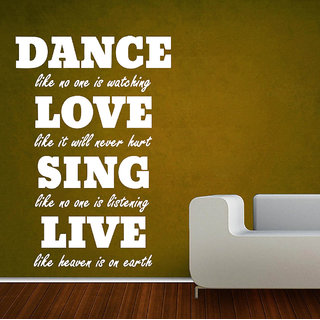 Decor Villa Wall Sticker (Dance love sing ,Surface Covering Area 17 x 23 Inch)