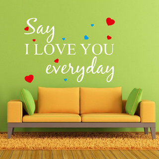 Decor Villa Wall Sticker (Say I Love ,Surface Covering Area 24 x 17 Inch)