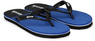 Groofer Men's Blue  Black fabrication Slippers