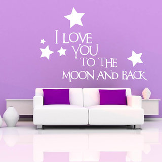 Decor Villa Wall Sticker (The Moon ,Surface Covering Area 25 x 20 Inch)