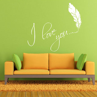 Decor Villa Wall Sticker (I Love u ,Surface Covering Area 23 x 20 Inch)
