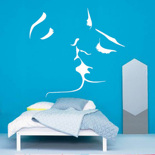 Decor Villa Wall Sticker (Kissing Face ,Surface Covering Area 25 x 20 Inch)