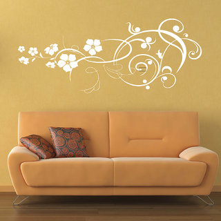 Decor Villa Wall Sticker (Big Flower ,Surface Covering Area 35 x 14 Inch)