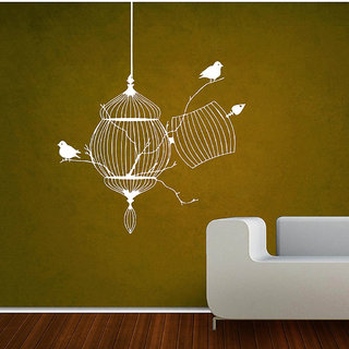Decor Villa Wall Sticker (Broken Cages ,Surface Covering Area 17 x 21 Inch)