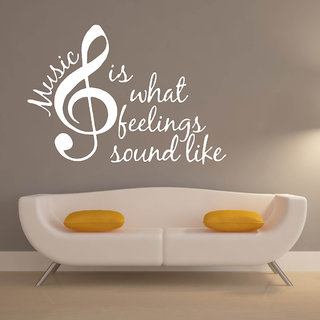 Decor Villa Wall Sticker (Music Is What ,Surface Covering Area 29 x 20 Inch)