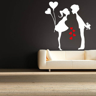 Decor Villa Wall Sticker (First Kiss Me ,Surface Covering Area 23 x 24 Inch)