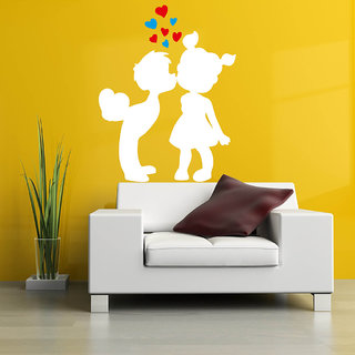 Decor Villa Wall Sticker (My First Kiss ,Surface Covering Area 20 x 26 Inch)