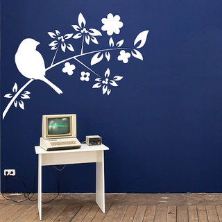 Decor Villa Wall Sticker ( Alone BirdWall ,Surface Covering Area 23 x 17 Inch)