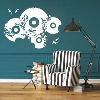 Decor Villa Wall Sticker (Music Time ,Surface Covering Area 24 x 17 Inch)