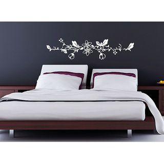 Decor Villa Wall Sticker (full wall flowers ,Surface Covering Area 57 x 17 Inch)