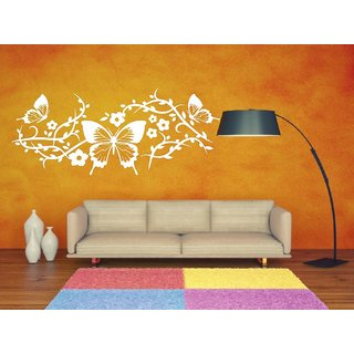 Decor Villa Wall Sticker (Butterflay is on wall ,Surface Covering Area 41 x 17 Inch)
