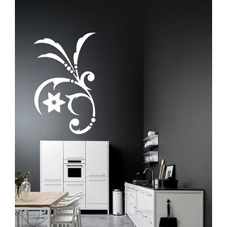 Decor Villa Wall Sticker (Star with leef ,Surface Covering Area 17 x 28 Inch)