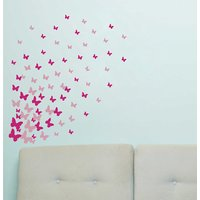 Decor Villa Wall Sticker (Butterfly,Surface Covering Area 65 x 60 Inch)