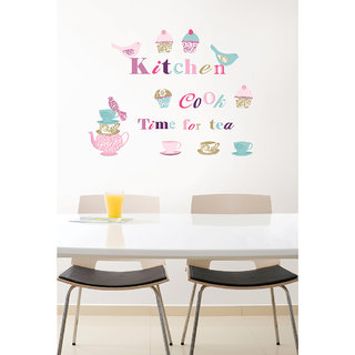 Decor Villa Wall Sticker (kicthan time,Surface Covering Area 27 x 35 Inch)