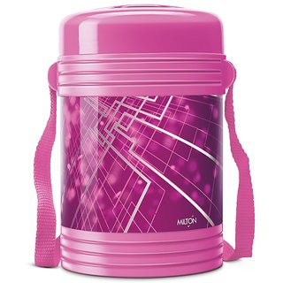 Milton New Design Insulated Lunch Box With 4 Leak Lock Containers, Pink