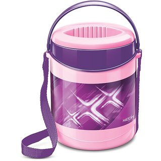 Milton Insulated Lunch Box / Tiffin With Leak Lock Steel Containers, 3 Pc Containers, Purple